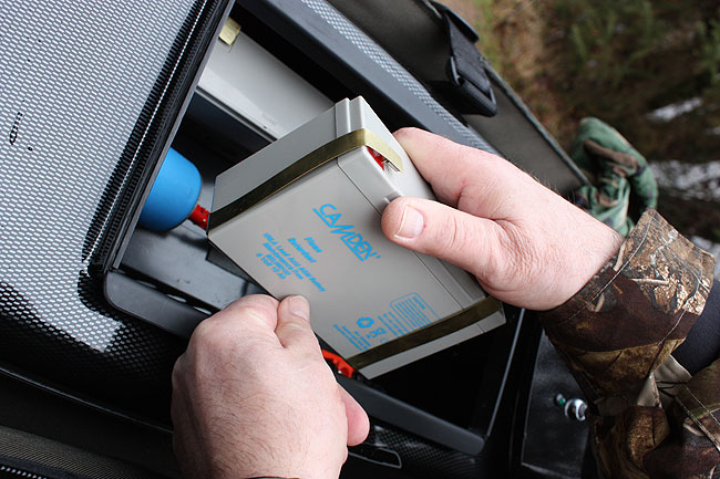 All bait boats feature own design plugless battery system